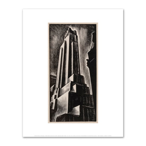 Howard Cook, Skyscraper, 1928, Fine Art Prints in various sizes by Museums.Co