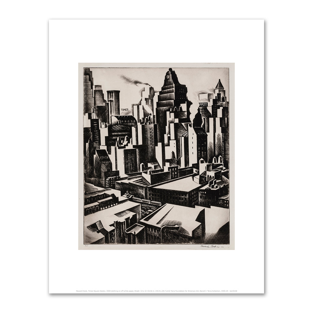 Howard Cook, Times Square Sector, 1930, Fine Art Prints in various sizes by Museums.Co