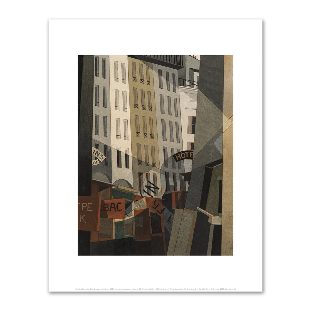 Charles Demuth, Rue du singe qui pêche, 1921, Fine Art Prints from 2020ArtSolutions