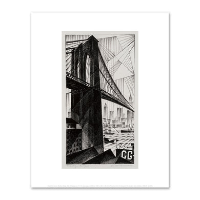 Arnold Rönnebeck, Brooklyn Bridge, 1925, Fine Art Prints in various sizes by Museums.Co