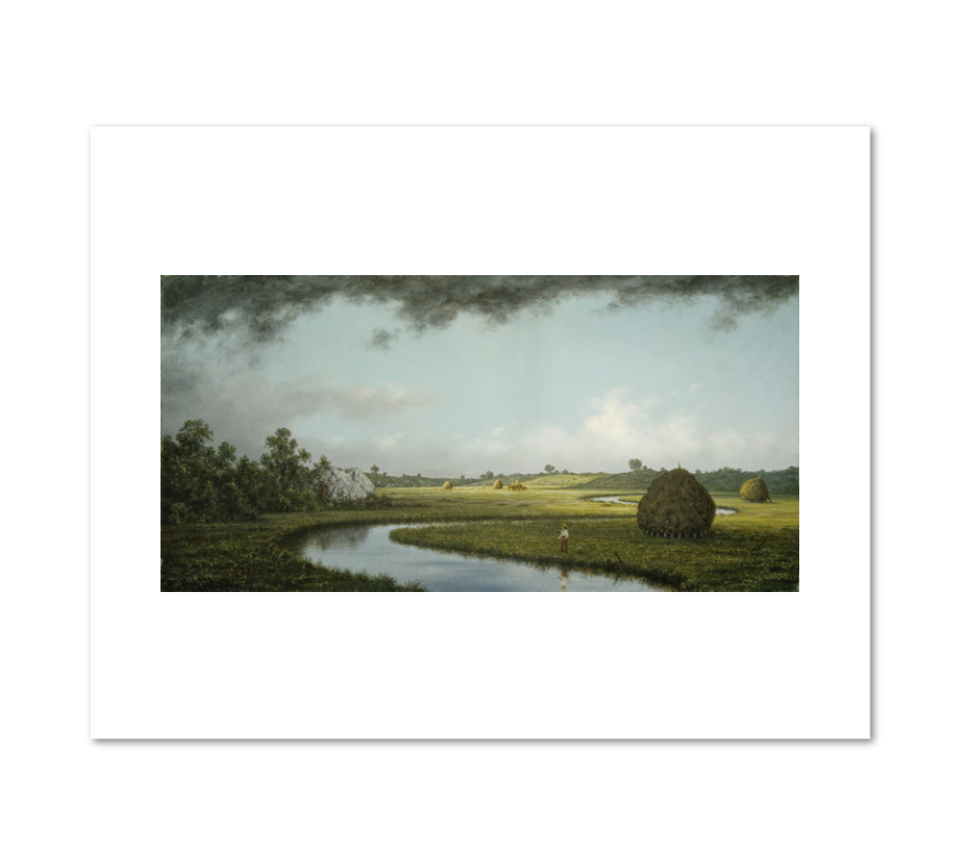 Martin Johnson Heade, Newburyport Marshes: Approaching Storm, c. 1871, Fine Art Prints in various sizes by Museums.Co