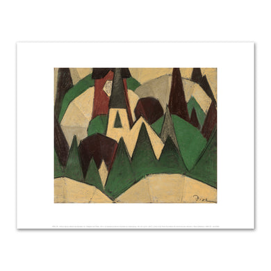 Arthur Dove, Nature Symbolized #3: Steeple and Trees, 1911-1912, Fine Art Prints in various sizes by Museums.Co