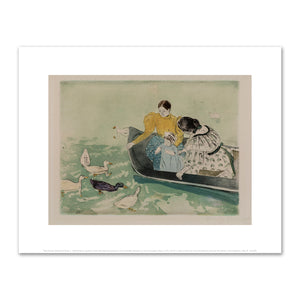 Mary Cassatt, Feeding the Ducks, c. 1895, Fine Art Prints in various sizes by Museums.Co