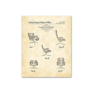 Charles Eames, Patent Drawing DS192799 Upholstered Chair, 2020ArtSolutions