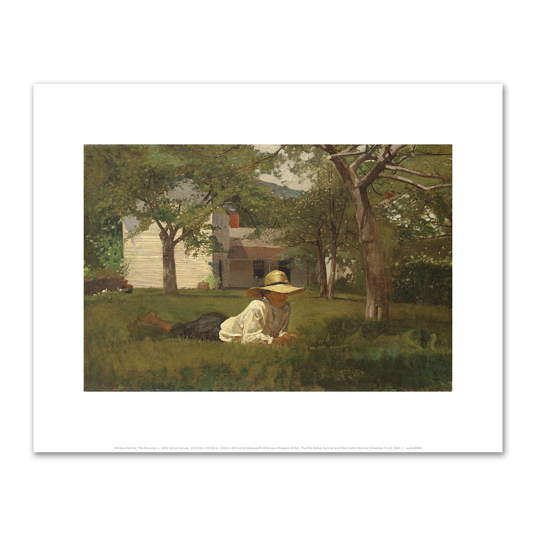 Winslow Homer, The Nooning, c. 1872, Fine Art Prints in various sizes by Museums.Co