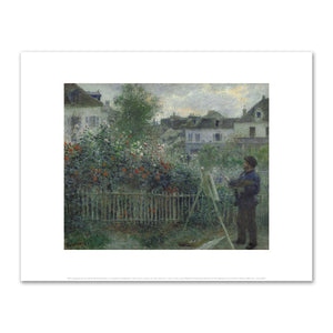 Pierre-Auguste Renoir, Claude Monet Painting in his Garden at Argenteuil, Wadsworth Atheneum Museum of Art