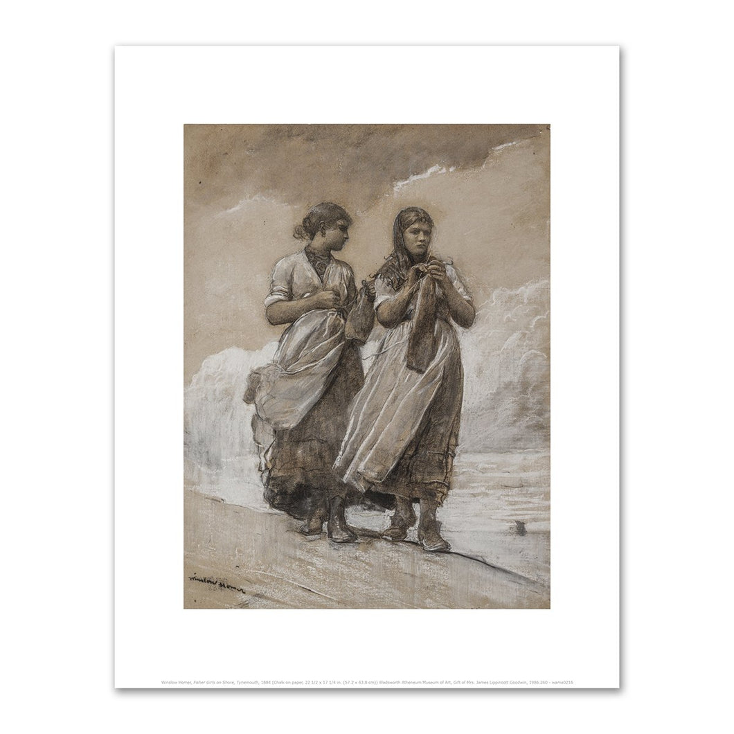 Winslow Homer, Fisher Girls on Shore, Tynemouth, 1884, Fine Art Prints in various sizes by Museums.Co