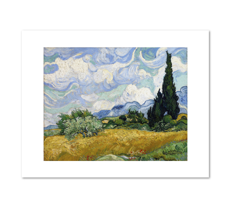 Vincent van Gogh, Wheat Field with Cypresses, 1889, Fine Art Prints in various sizes by Museums.Co