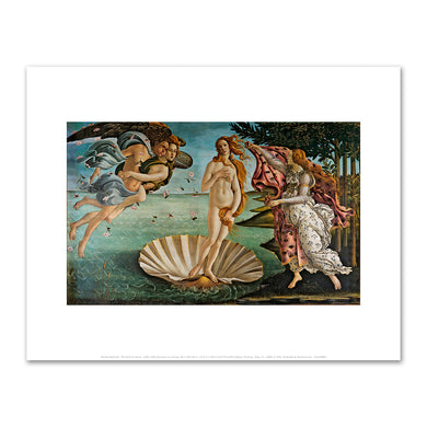 Sandro Botticelli, The Birth of Venus, 1485–1486, The Uffizi Gallery, Florence, Italy. Fine Art Prints in various sizes by Museums.Co
