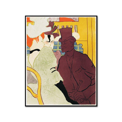 The Englishman at the Moulin Rouge (L'Anglais au Moulin Rouge) by Henri de Toulouse-Lautrec Artblock