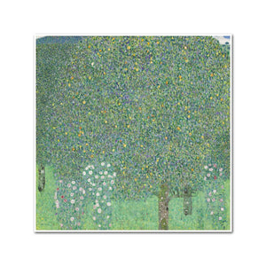 Rosebushes Under the Trees by Gustav Klimt Artblock