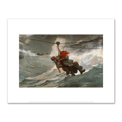 Winslow Homer, Life Line, 1866, Art Print in 4 sizes by 2020ArtSolutions