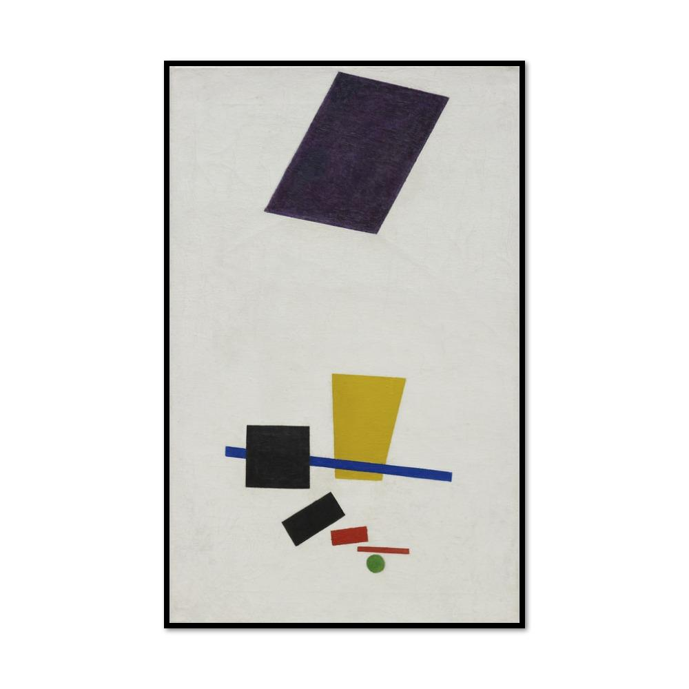 Kazimir Malevich, Painterly Realism of a Football Player - Color Masses in the 4th Dimension, Framed art prints in black frame by Museums.Co