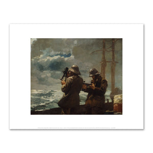 Winslow Homer, Eight Bells, 1886, Fine Art Prints in various sizes by Museums.Co