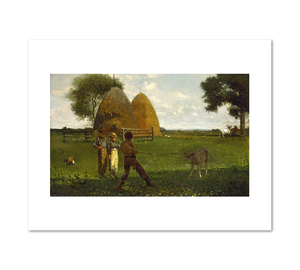 Winslow Homer, Weaning the Calf, Fine Art Prints in various sizes by Museums.Co