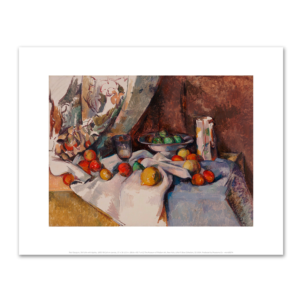 Paul Cézanne, Still Life with Apples, 1895-98, Fine Art Prints in various sizes by Museums.Co