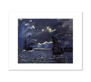 Claude Monet, A Seascape, Shipping by Moonlight, about 1864, Fine Art Prints in various sizes by Museums.Co