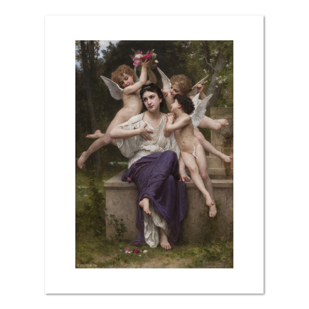 William-Adolphe Bouguereau, A Dream of Spring, 1901, Fine Art Prints in various sizes from Museums.Co