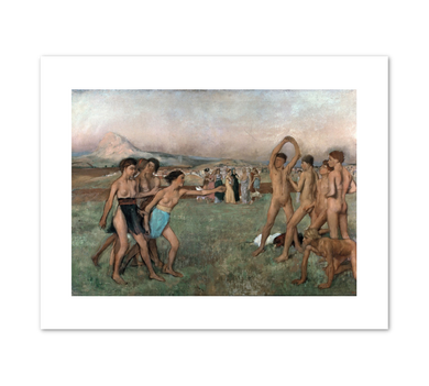 Edgar Degas, Young Spartans exercising, c. 1860, Fine Art Prints in various sizes by Museums.Co