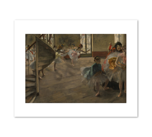 Edgar Degas, The Rehearsal, 1874, Fine Art Prints in various sizes by Museums.Co