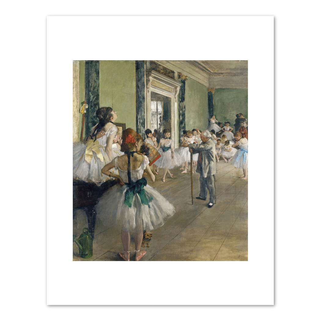 Edgar Degas, The Dance Class, begun 1873, completed 1875–1876, Fine Art Prints in various sizes by Museums.Co