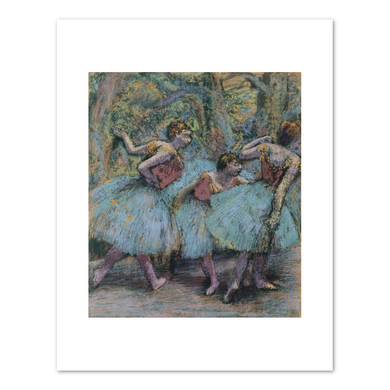 Edgar Degas, Three Dancers (Blue Skirts, Red Bodices), ca. 1903, Beyeler Foundation. Fine Art Prints in various sizes by Museums.Co