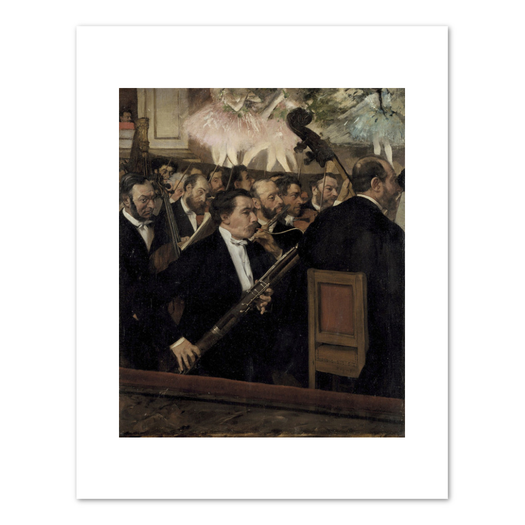 Edgar Degas, The Orchestra of the Opéra, 1870, Musée d'Orsay. Fine Art Prints in various sizes by Museums.Co