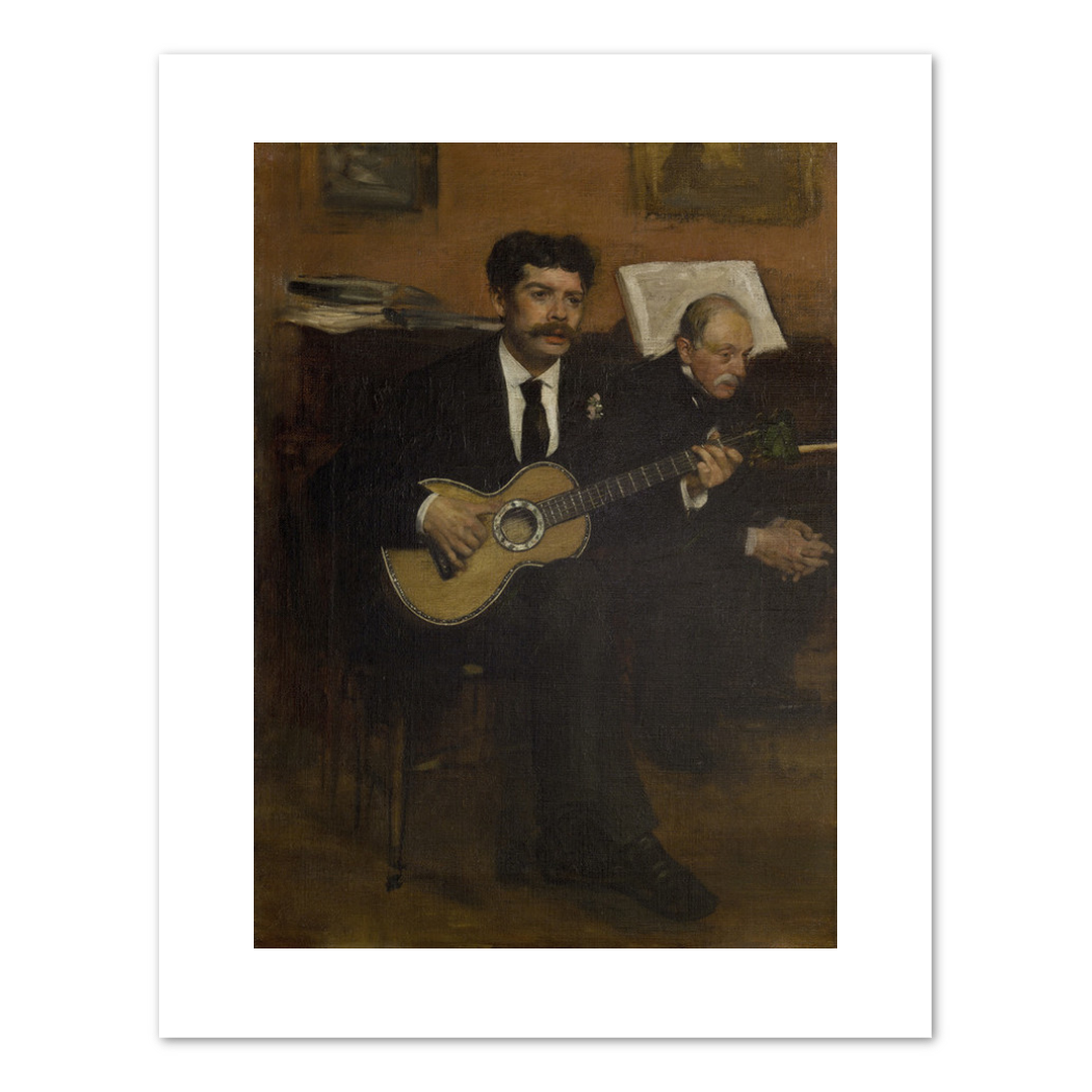 Edgar Degas, Lorenzo Pagans and Auguste De Gas, 1871 - 1872, Musée d'Orsay, Paris. Fine Art Prints in various sizes by Museums.Co