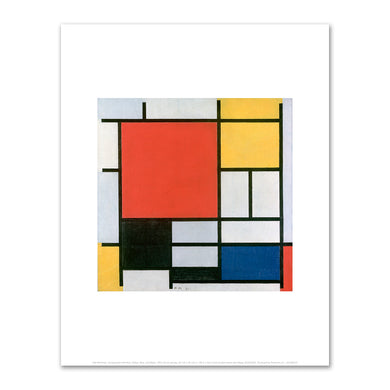 Piet Mondrian, Composition with Red, Yellow, Blue, and Black, 1921, Kunstmuseum Den Haag. Fine Art Prints in various sizes by Museums.Co