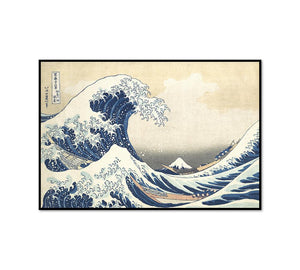 Katsushika Hokusai, The Great Wave at Kanagawa (from a Series of Thirty-six Views of Mount Fuji), ca. 1830-32, Framed Art Prints in 3 sizes with black frame by Museums.Co