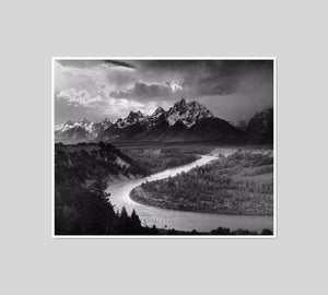 The Tetons and the Snake River by Ansel Adams Artblock