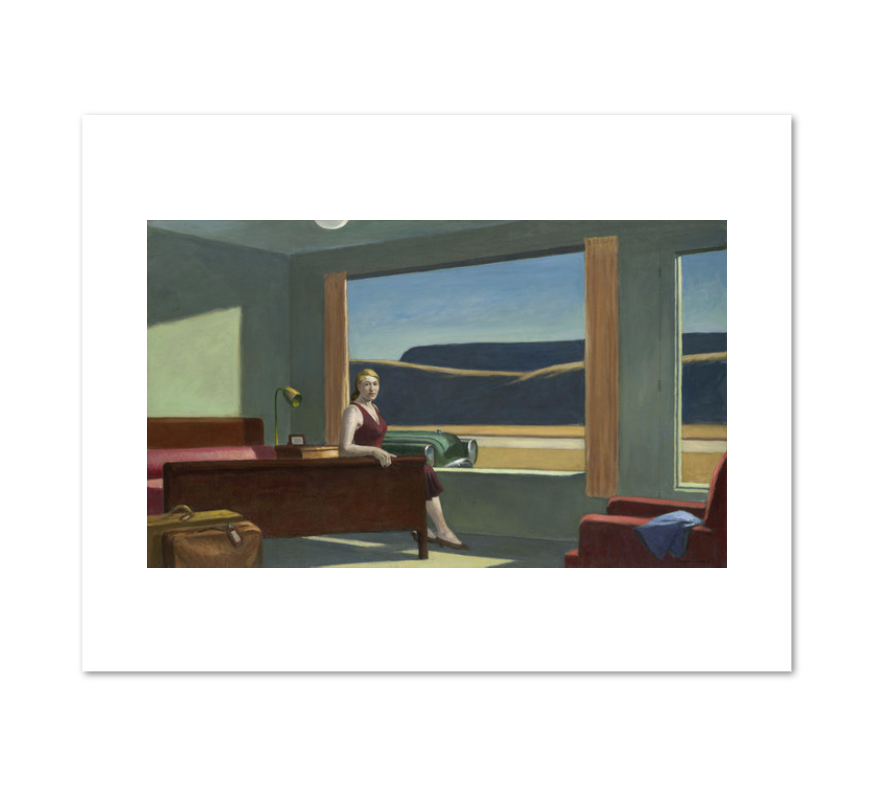Western Motel by Edward Hopper Archival Print