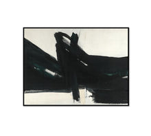 Franz Kline, Ravenna, 1961, Framed Art Print with black frame in 3 sizes by Museums.Co