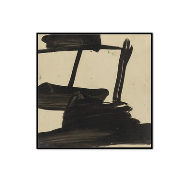 Franz Kline, Study, ca. 1957, Framed Art Prints with black frame in 3 sizes by Museums.Co