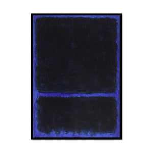 Mark Rothko, Untitled, ca. 1968, Framed Art Print with black frame in 3 sizes by Museums.Co