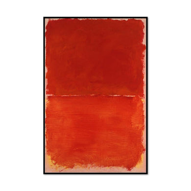 Mark Rothko, Untitled, 1969, Framed Art Print with black frame in 3 sizes by Museums.Co