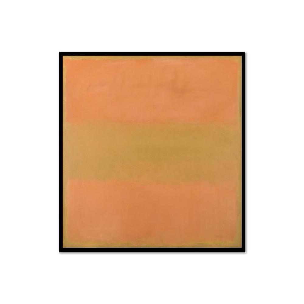 Mark Rothko, Untitled (Orange), 1957, Framed Art Print with black frame in 3 sizes by Museums.Co