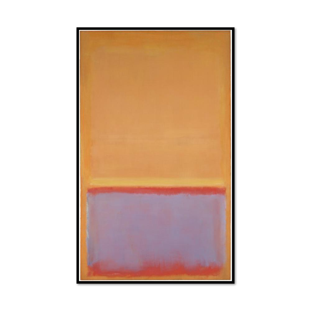 Mark Rothko, Untitled, 1954, Framed Art Print with black frame in 3 sizes by Museums.Co