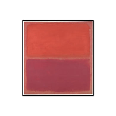Mark Rothko, No. 3, Framed Art Print with black frame in 3 sizes by Museums.Co
