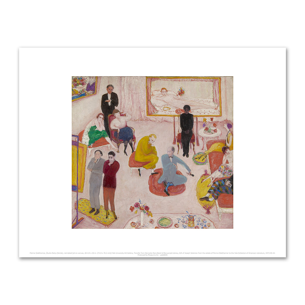 Florine Stettheimer, Studio Party (Soirée), not dated, Fine Art Prints in various sizes by Museums.Co