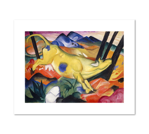 Franz Marc, Yellow Cow, Fine Art Prints in various sizes by Museums.Co