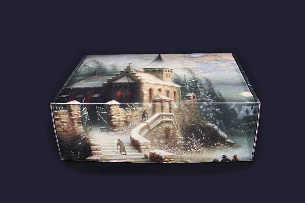 Albert Bredow- Romantic Moonlit Winter Landscape - Master Piece Box