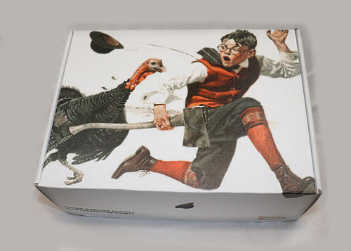 Norman Rockwell - Cousin Reginald Catches the Turkey - Master Piece Box