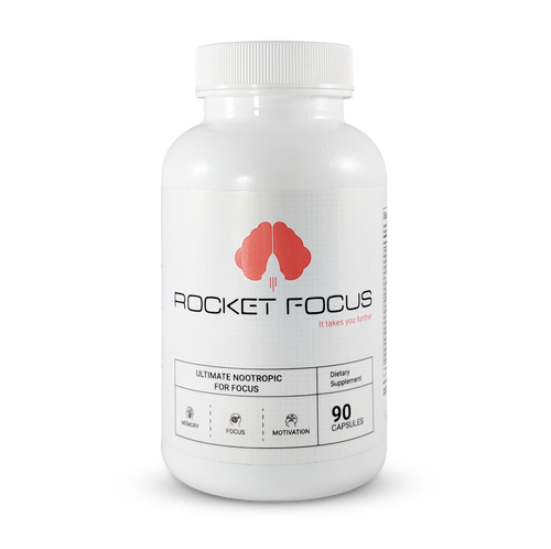 Front view of Rocket Focus Ultimate Nootropic