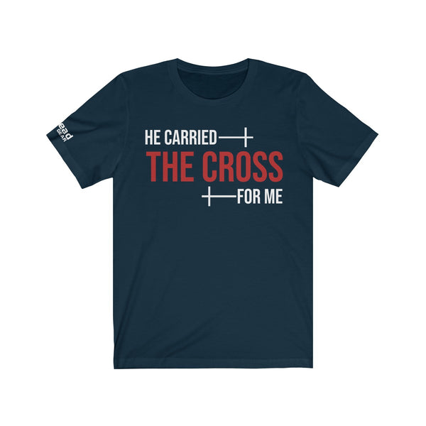 HE CARRIED THE CROSS - Unisex Jersey Short Sleeve Tee