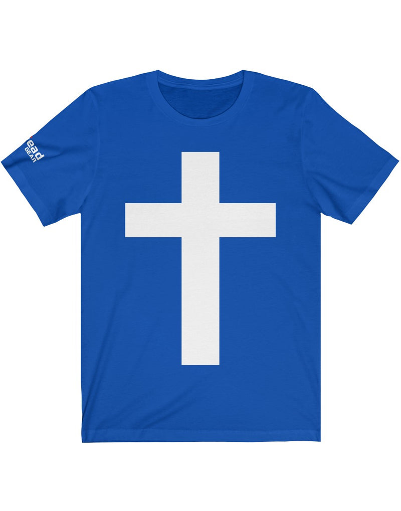 The Cross - Unisex Jersey Short Sleeve Tee with RETREAD GEAR logo