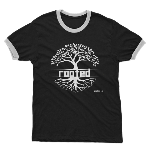 ROOTED Adult Ringer T-Shirt