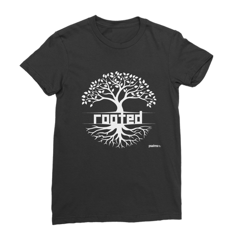 ROOTED Premium Jersey Women's T-Shirt