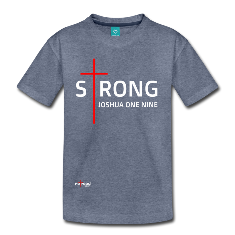STRONG - Kids' Premium T-Shirt - heather blue