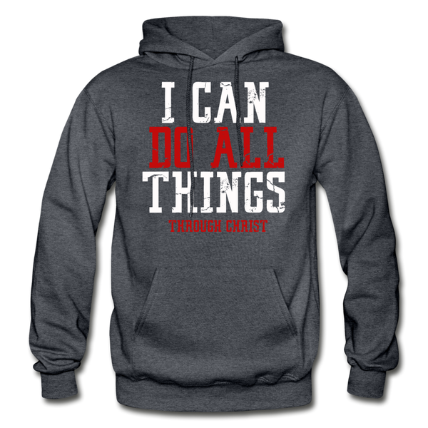 I CAN DO ALL THINGS - Gildan Heavy Blend Adult Hoodie - charcoal gray